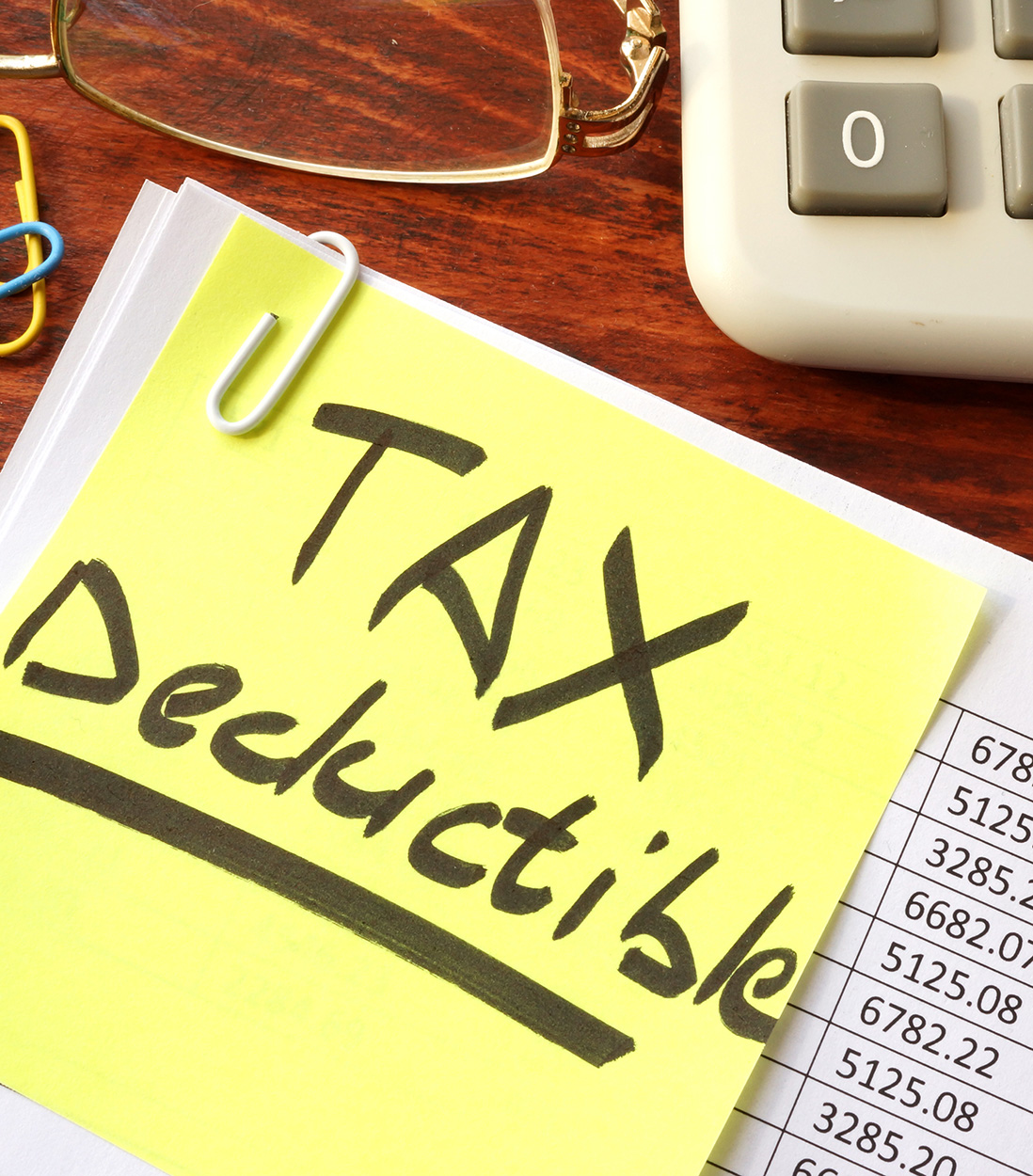 Tax Deductible - Bookkeeping services